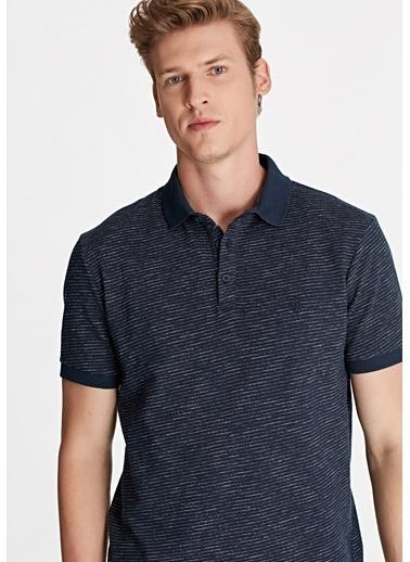 Mavi Erkek  Cizgili Polo Tişört 065768-29743 Mavi